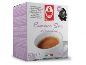 Compatible Coffee Capsules for the system Cafissimo  Caffè Bonini Seta
