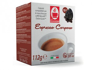 Compatible Coffee Capsules for the system Dolce Gusto Caffè Bonini Corposo
