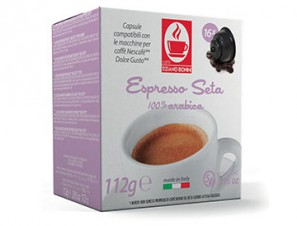 Compatible Coffee Capsules for the system Dolce Gusto Caffè Bonini Seta