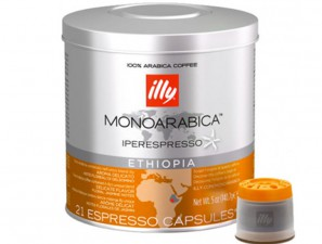 Original Coffee Capsules for the system Illy Iperespresso Illy Monoarabica Etiopia